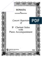 Bernstein - Sonata for Clarinet & Piano