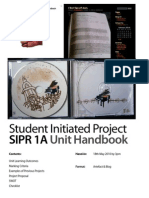 Student Initiated Project SIPR 1A Unit Handbook