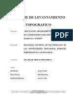 Informe Topografico IE. MCAL CACERES 29.12.11