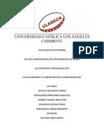 Trabajo de Investigación Formativa (Algoritmos)