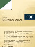 Matematicas Basicas - Practica de Ecuaciones e Inecuaciones
