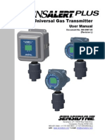 SensAlert Plus Manual- Tranmisor Analiticco de Gases NASH