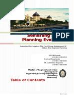 Semarang Spatial Planning Evaluation