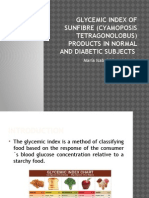 Glycemic Index of Sunfibre (Cyamoposis Tetragonolobus) products in normal and diabetic subjects..pptx