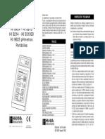 PHmetro HANNA Manual