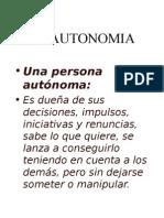 Una Persona Autonoma