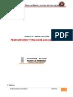 _6ºinforme - Peso Unitario y Vacíos de Los Agregados (1)
