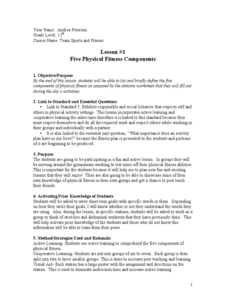 Five Components Flexibility Anatomy Physical Fitness