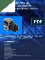 Programa de Mantenimiento Bomba de Engranes