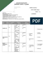 Lesson Plan 1st Gradedasfd II Bim 2014