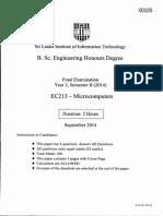MIcrocomputers EC 213 Paper