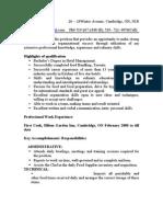 Hemanta's Resume