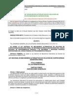 Ley Nacional de Mecanismos Alternativos de Solucion de Controversias en Materia Penal 29 Dic 2014