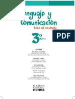120181437 Libro de Lenguaje y Comunicacion 3 Basico 2013