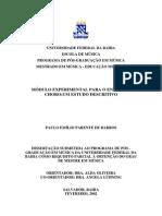 Barros - Módulo Experimental Para o Ensino de Choro