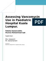 Assessing Vancomycin Use in Pediatric Unit