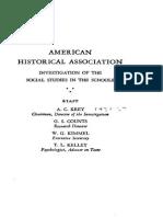 Report on the Commission on Social Studies Krey Counts Kimmel Kelley 1934 179pgs EDU.sml