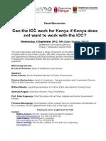 ReportingKenya September 2013 Debate Can the Icc Work for Kenya