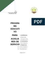 Programa educativo a auxiliar de aseo