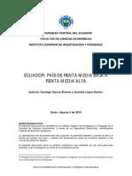 Ecuador Pais de Renta Media Alta
