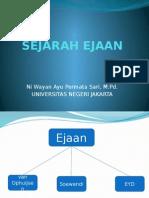 SEJARAH EJAAN