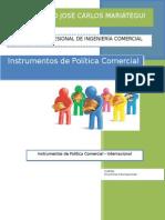 Trabajo - Instrumentos de Política Comercial