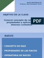 Clase 34 Raices Concepto y Propiedades