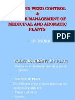 Pest and weed control & Disease management of  Medicinal and aromatic  Plants