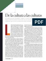 De La Cultura a Las Culturas. Gabriel Zaid