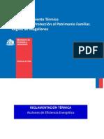 Acondicionamiento Térmico Programa de Protección Al Patrimonio Familiar. Región de Magallanes