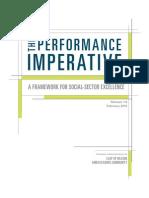 Performance Imperative