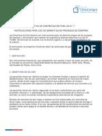 Directiva N7 Uso de Garantías