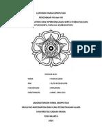 Laporan Kimia Komputasi Percobaan VII Dn VIII