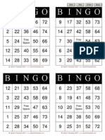 Bingo Template Black