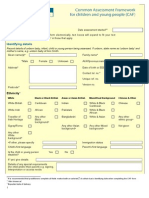 Common Assessment Framework Form