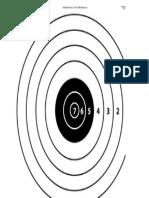Firing Range Practice Target