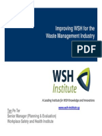 Improving WSH for the WasteManagement Industry