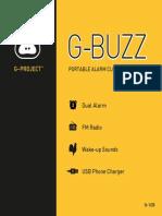 g-buzz Alarm Clock Manual