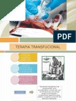 Transfusión de Concentrados Eritrocitarios y Plaquetas