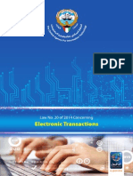 Kuwait Electronic Transaction Law (2014/20)