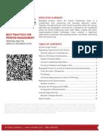 2011 Best Practices for Printer Management.docx