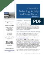 February 2010 IT Status Report