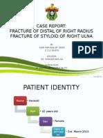 Presentation fraktur distal radius, fraktur styloid ulna