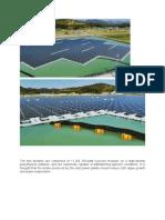 Floating Solar Plant