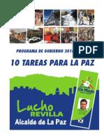 Luis Revilla Programa de Gobierno