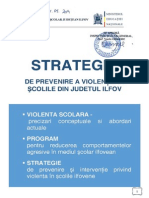 STRATEGIE Pentru Prevenirea Violentei in Scolile Ilfovene 2014-2015