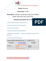Braindump2go New Updated 70-458 Practice Tests Free Download (41-50)