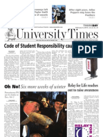 The University Times - February 4, 2010