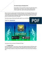 Best Android App for Ramadan 2015.
