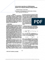 Frequency Synchronization Algorithm for OFDM over Frequency Selective Fading